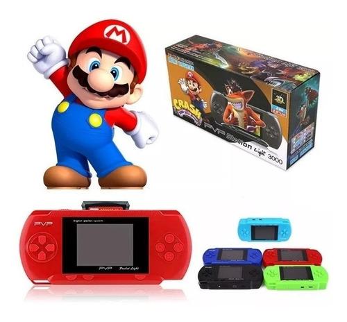 mini video game psp pvp boy portátil digital conecta tv jogos divertidos super mario street fighter + 1 cartucho jogos