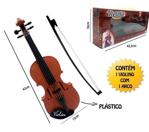 mini violino infantil acustico com 4 cordas arco iniciantes