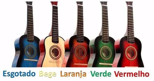 mini violão infantil acústico c/ cordas de iniciantes