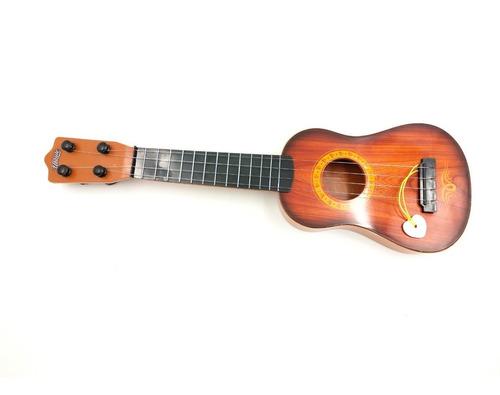 mini violão infantil ukulele 4 cordas aço c/ palheta 44cm