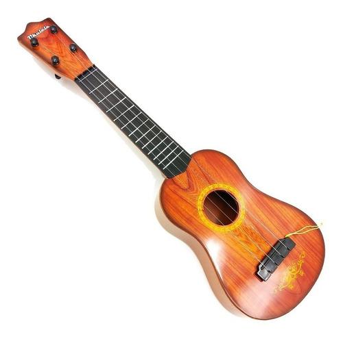 mini violão infantil ukulele 4 cordas aço c/ palheta 57cm