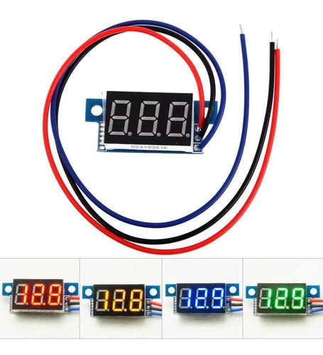 mini voltímetro digital 12v 24v bateria som fonte automotiva