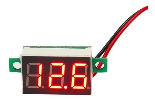 mini voltímetro digital 3-4.7 - 32 vdc 2 cables
