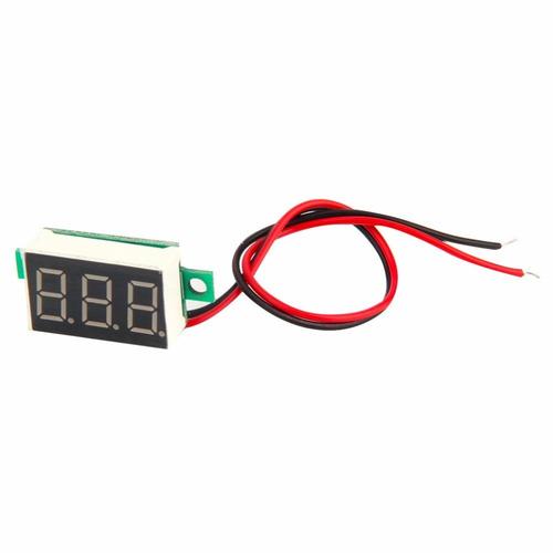 mini voltímetro led digital 4.5~30v medidor som lcd arduino