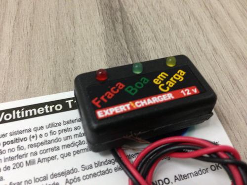 mini voltímetro manual testador de bateria 12v - item novo