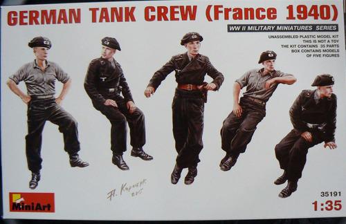 miniart 1/35 35191 german tank crew