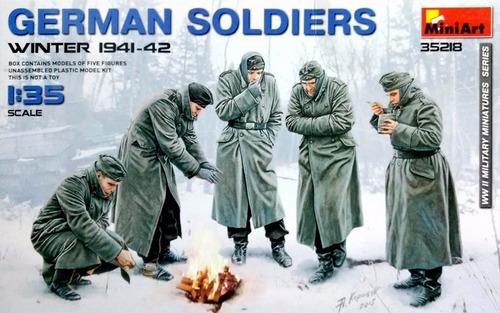 miniart 1/35 35218 german soldiers (winter 1941-42)