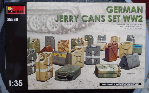 miniart 1/35 35588 german jerry cans set ww2