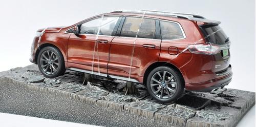 miniatura 1/18 ford edge v6 suv sport 2016 frete gratis