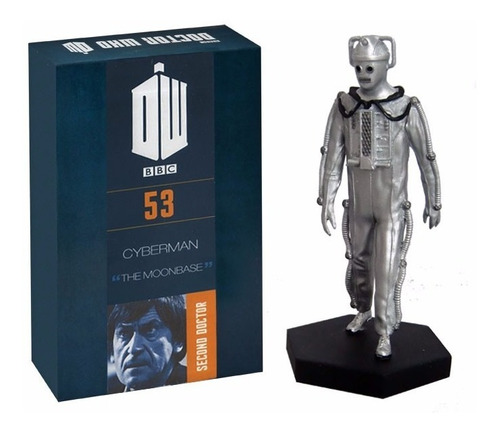 miniatura 53 cyberman - doctor who figurine - bonellihq h18