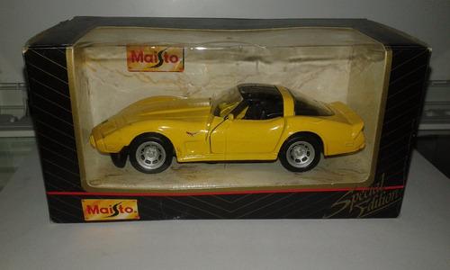 miniatura automóvel corvette 1978 escala 1/39 maisto caixa