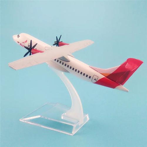 miniatura avião avianca atr 600 metal 14cm