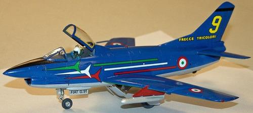 miniatura avião fiat g-91 p.a.n. pre serie 1/48 kit italeri