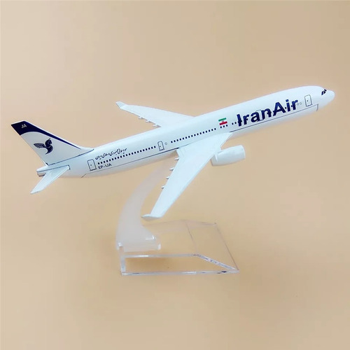 miniatura avião iran airline airbus a330 material metal