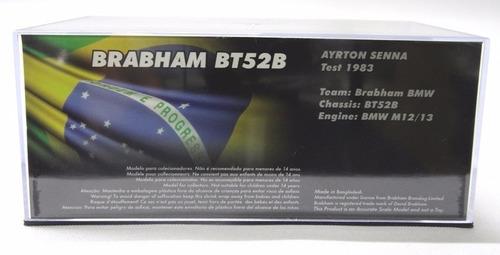 miniatura brabham bt52b - ayrton senna 1983 edição 29