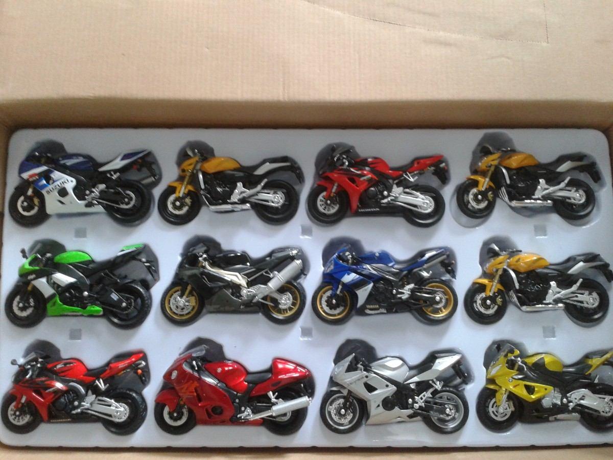 Moto Suzuki Hayabusa 1300 Miniatura Coleção Brinquedo 1:18 ...