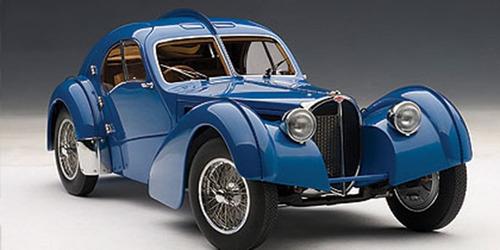 miniatura bugatti atlantic 57 sc 1938 auto art 1/18