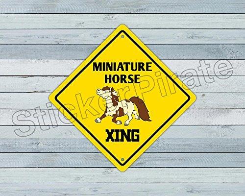 miniatura caballo crossing funny metal novedad signo alumini