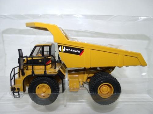miniatura caminhão caçamba basculante hy truck escala 1:50