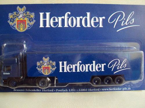 miniatura caminhão cerveja herforder man f2000