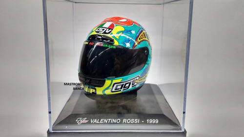 miniatura capacete moto gp  valentino rossi  1999 - altaya