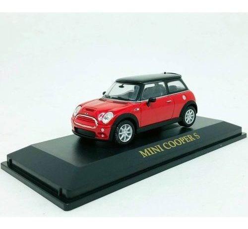 miniatura carro mini cooper s vermelho 1:43 yat ming 94248