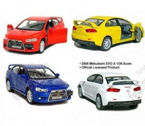 miniatura carro  mitsubishi lancer evolution x 1/36- barato!