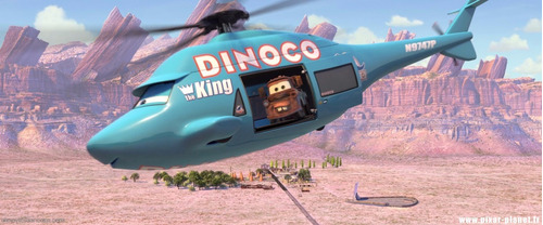 miniatura carros helicóptero azul dinoco mattel