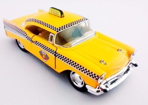 miniatura chevrolet bel air 1957 1/40 taxi antigo - barato!!