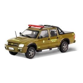 Miniatura Chevrolet S10 Em Metal Brigada Militar 1:43 Ixo