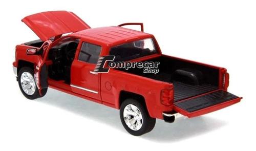 miniatura chevrolet silverado 2014 vermelho jada toys 1/24