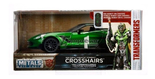 miniatura chevy corvette transformers 2016 verde jada 1/24