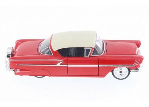 miniatura chevy impala 1958 vermelha jada 1/24