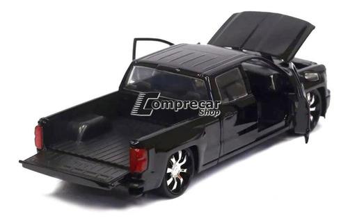 miniatura chevy silverado 2014 custom edition jada 1/24
