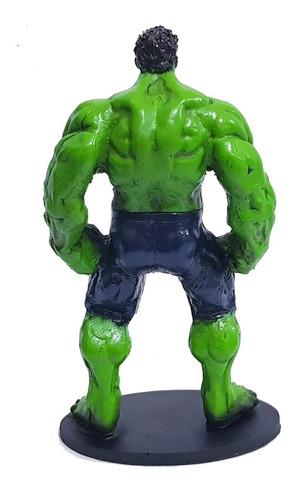 miniatura colecionável hulk em resina 17cm