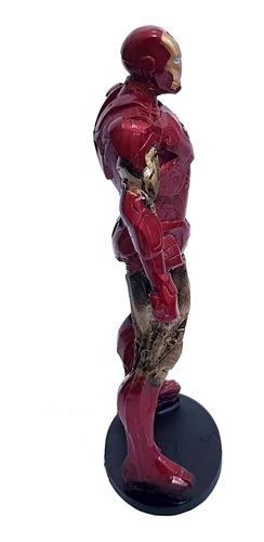miniatura colecionável marvel homem de ferro 21cm