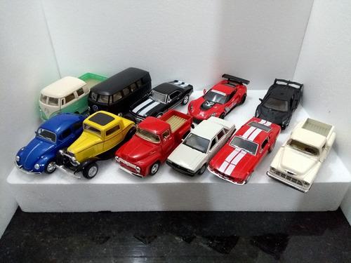miniatura colecão carrinhos varios modelos kit c/10 unidades