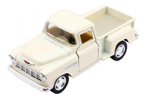 miniatura coleção chevy stepside pick-up 1955 1/32 de metal