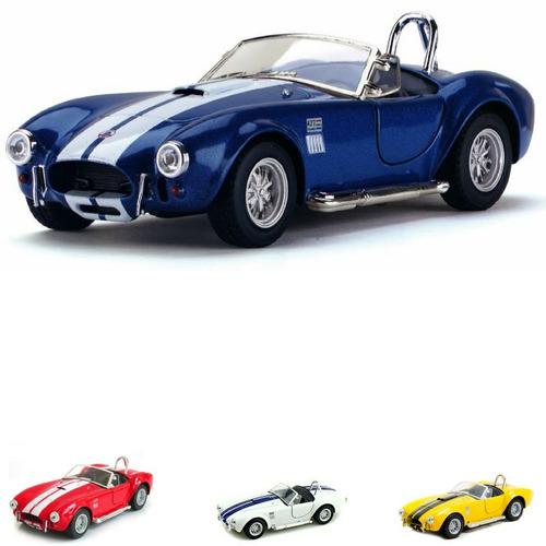 miniatura coleção ford shelby cobra 427 s/c 1965 metal 1/32