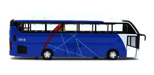 miniatura coleção ônibus de turismo som e luz fricção 1/32