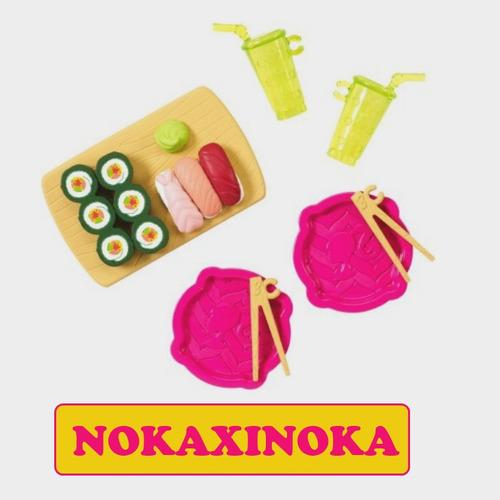 miniatura comida sushi copo pra boneca barbie blythe *mattel