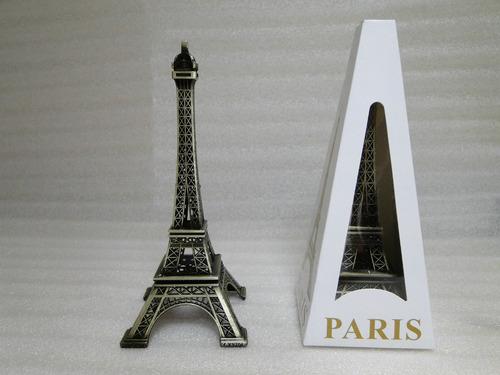 miniatura da torre eiffel  paris 19 cm metal champs de mars