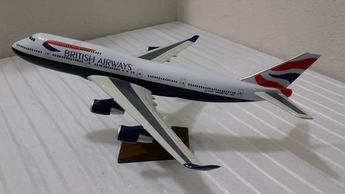 miniatura de avião b-747 british airwais