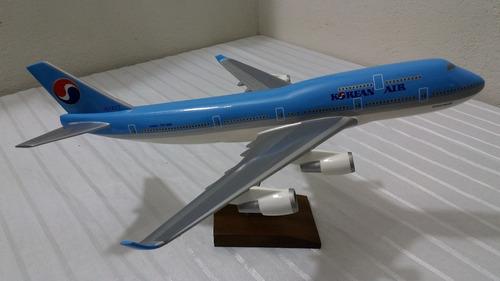 miniatura de avião b-747 korean air