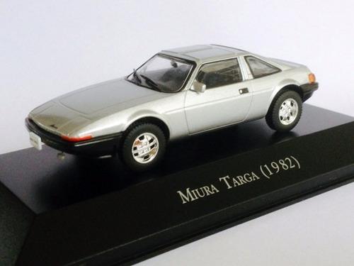 miniatura de carro miura targa 1982 prata 1:43 ixo