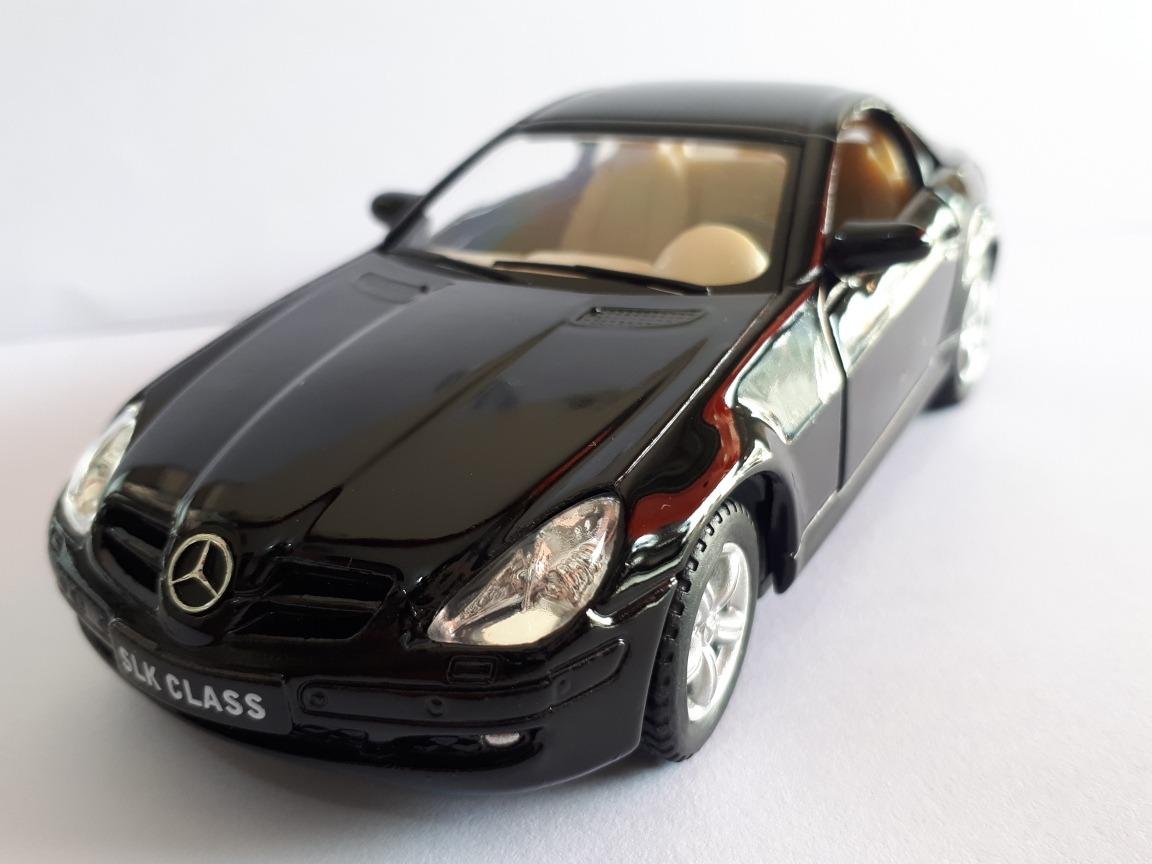 Miniatura De Metal Mercedes Benz Slk Class Kinsmart Preta. Carregando Zoom.