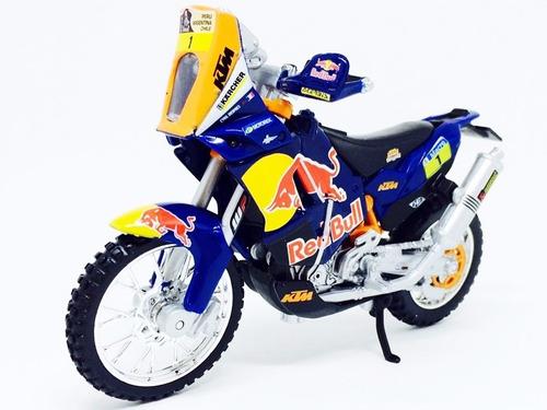 miniatura de moto ktm 450 rally dakar red bull 1:18 burago
