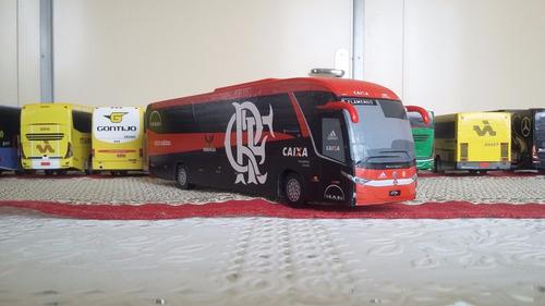 miniatura de ônibus marcopolo g7 1200 artesanal do flamengo