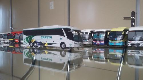 miniatura de ônibus marcopolo g7 artesanal da garcia