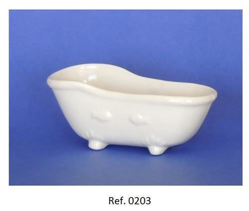 miniatura de porcelana - mini banheira gde.